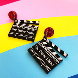 Clapperboard Llama in a Drama Earrings