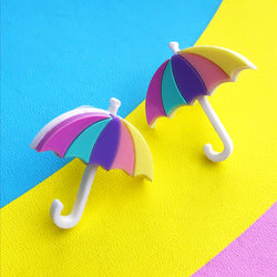 Pastel acrylic umbrella earrings