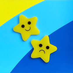 Star acrylic brooch set