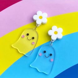 Clear acrylic ghost earrings