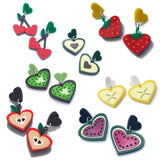 Perspex laser cut fruit jewellery