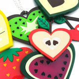 laser cut perspex acrylic fruit jewellery
