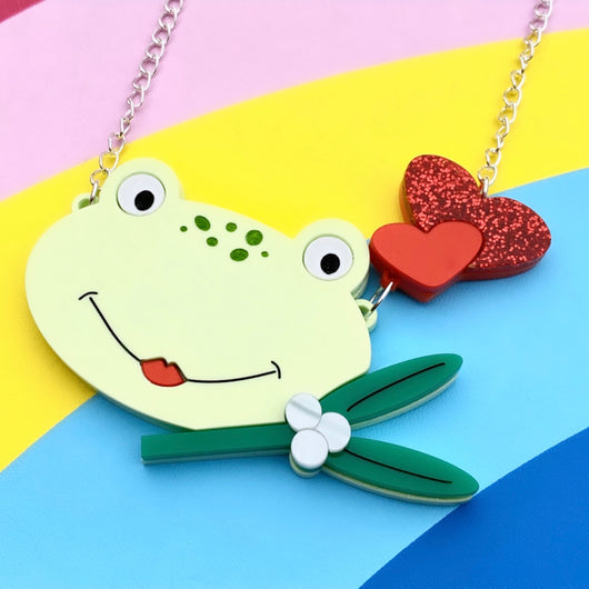 kawaii frog necklace