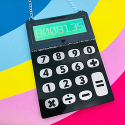 Statement Calculator Perspex acrylic necklace