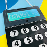Lasercut calculator necklace