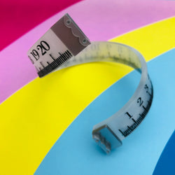 Lasercut tape measure bracelet