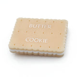 laser cut acrylic butter cookie brooch