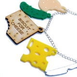 acrylic cheese necklace