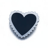 Scalloped Heart Brooch