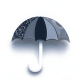 Perspex acrylic umbrella brooch