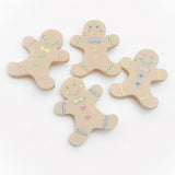 Perspex gingerbread man jewellery