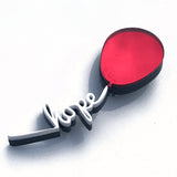 there is always hope red balloon acrylic brooch