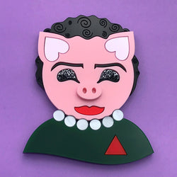 Frank n Furter Pig Portait Necklace