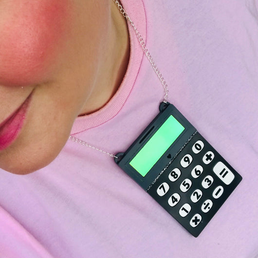 Statement calculator necklace