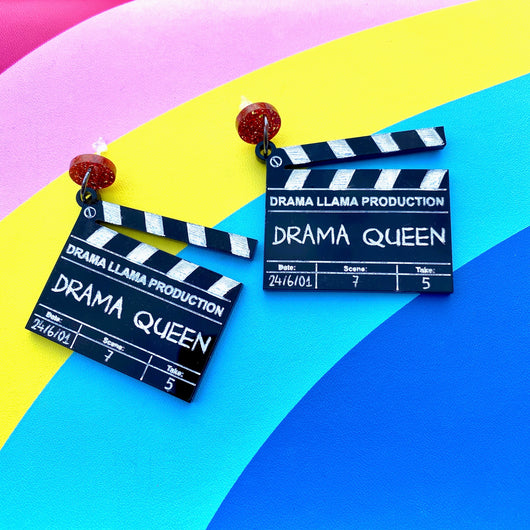 Customisable Clapperboard Acrylic Earrings