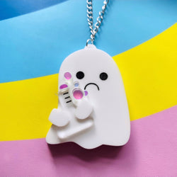 Potion Ghost acrylic necklace