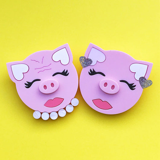 acrylic pig brooches
