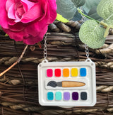 Colourful art necklace
