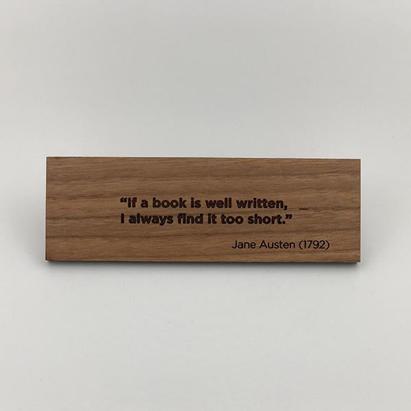 MakerQuote: Austen—If A Book…