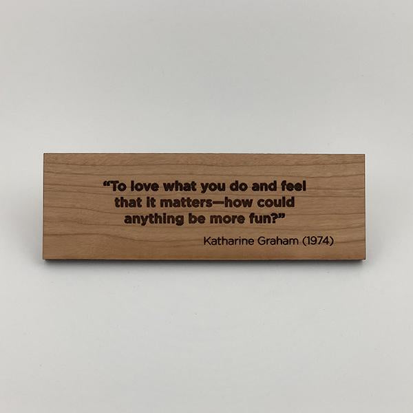 MakerQuote: Graham—To Love What You…