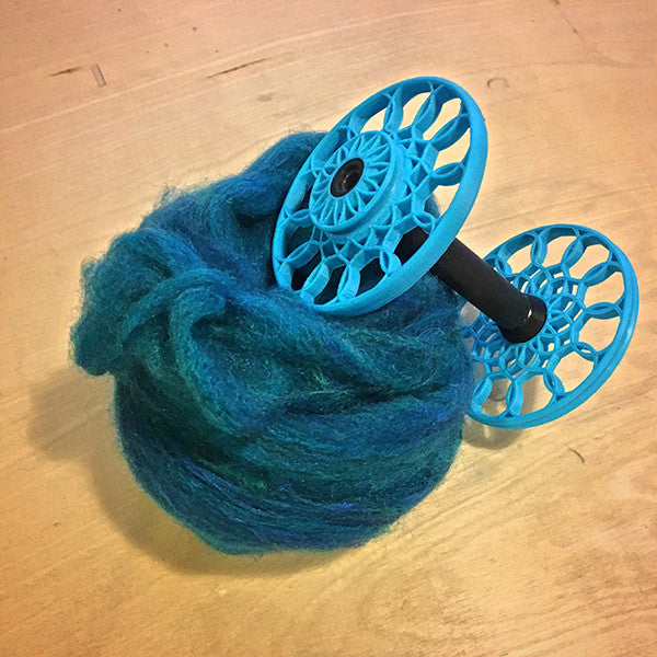 Flat-Pack Bobbin with Sunflower whorls in Powder Blue