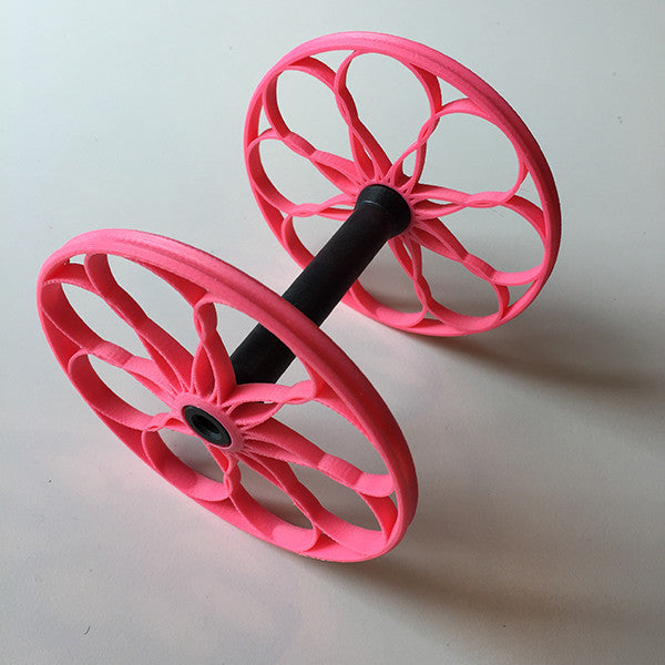 Flat-Pack Bobbin with Lacy whorls in Pink