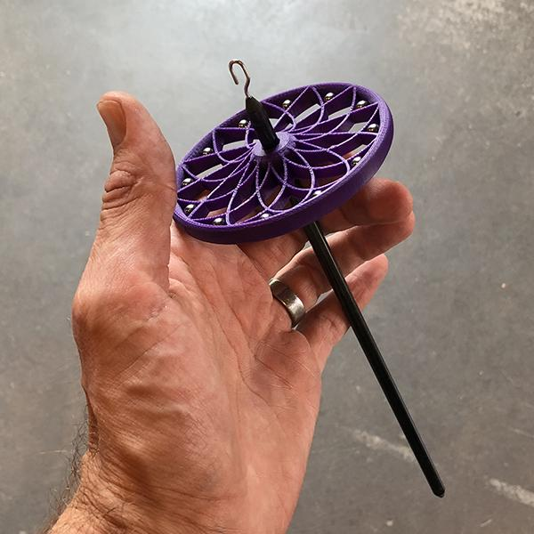 Modular Spindle Component: Weighted Lotus Whorl