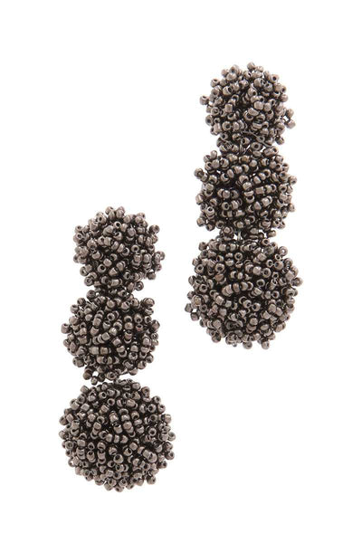 Chunky Beaded Post Drop Earring