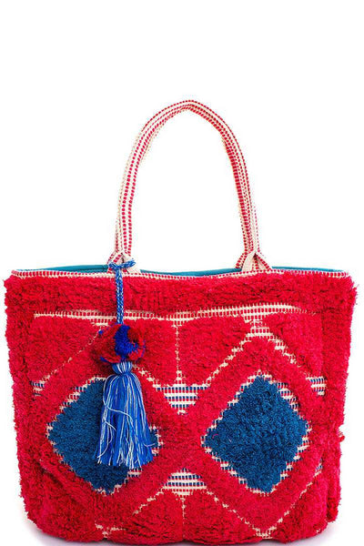 Neon Textiles Tote With Tassel
