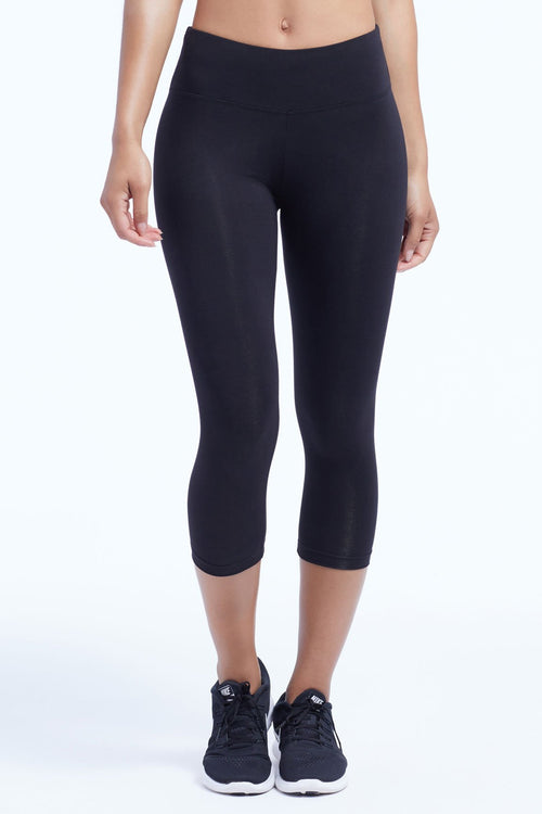 Marika Womens Plus Size Butt Booster Capri Legging
