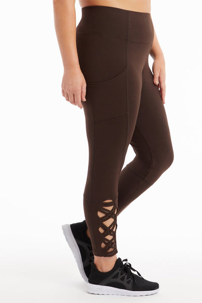 a1f78bb9229c8 High Rise Side Pocket Laced Ankle Legging (Plus Size)
