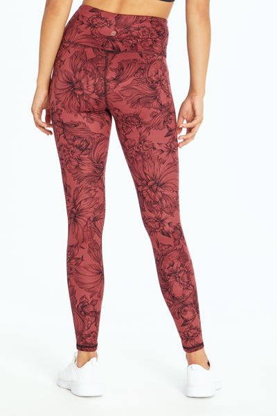 OXBLOOD FLORAL SCROLL