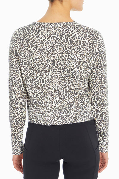WHITE RETRO MINI LEOPARD