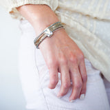 Bound By Love mixed metal sterling silver and Gold Filled Bangle Set