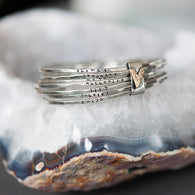 Bound By Love Hand Stamped Bangle Set