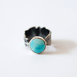 Feather Band Natural Turquoise Ring