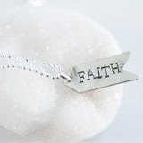 Follow Your Heart sterling silver FAITH necklace