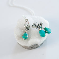All Heart Turquoise Necklace and Earrings Set