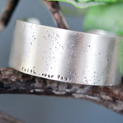 Grace and Grit  extra wide sterling silver Cuff bracelet