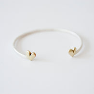 All Heart Silver and Golden Bronze Stacking Cuff Bracelet