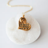Adoption necklace hand cast fine Bronze adoption quote mothers necklace