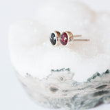 Natural Garnet Earrings