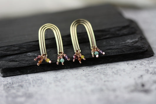 Talismans of Hope Rainbow earrings Bronze