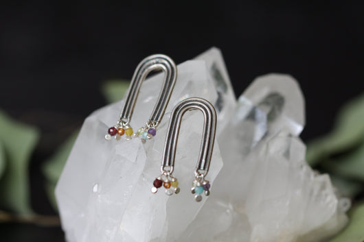 Talismans of Hope long Rainbow earrings