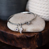 Star Birthstone Charm for Bangle Charm Bracelet