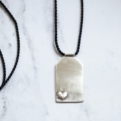 Sterling Silver Courage Dear Heart Talisman