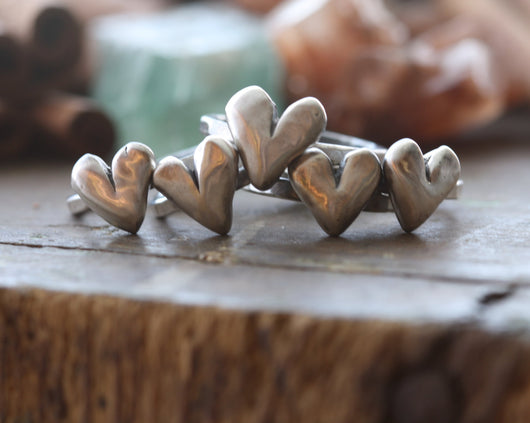 All Heart Silver Stacking Ring