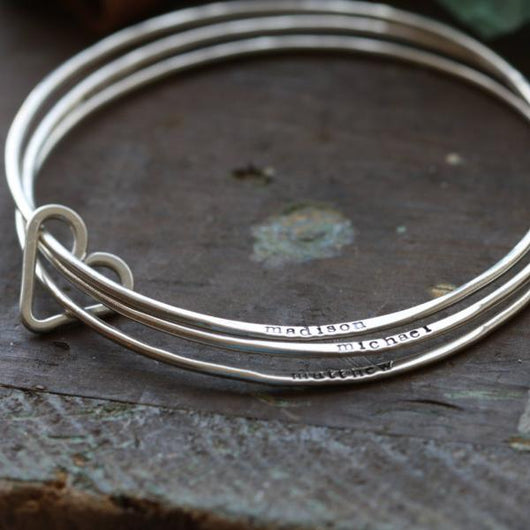 il listing bangles of heart bracelet silver filled sterling bangle gold set bracelets