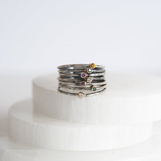 Bound by Love Gemstone Stacking Ring Set