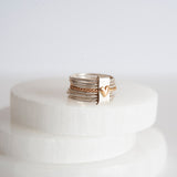 Bound By Love Sterling Silver and 14k Gold Ring Set